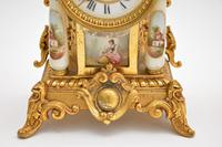 Antique French Porcelain & Gilt Mantel Clock Set (11 of 12)