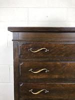 Early 20th Century Antique Oak Narrow Chest of Drawers (3 of 11)