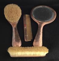 Arts & Crafts Planished Copper 4 Piece Vanity Set (3 of 4)
