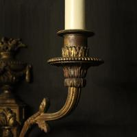 French Pair of Bronze Gilded Antique Wall Sconces (4 of 10)