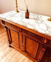 Antique Sideboard / Burr Walnut Sideboard / Walnut Cupboard (3 of 10)