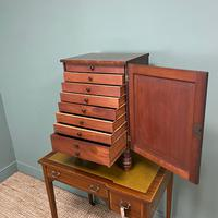 Spectacular Small Regency Antique Mahogany Collectors Cabinet (6 of 8)