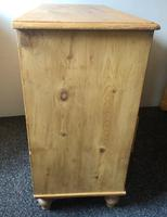 Stripped Pine Chest of Five Drawers (9 of 9)