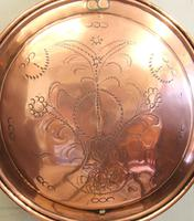 Antique Victorian Copper Bed Warming Pan (3 of 6)