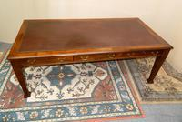 Large Mahogany Library Table /  Boardroom Table (6 of 8)