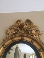 Fine Irish Regency Gold Giltwood Convex Mirror with Eagle Crest (5 of 6)