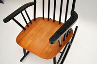 1960's Vintage Ebonised Elm Rocking Chair (9 of 11)