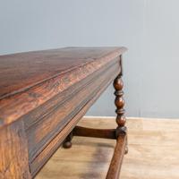 20th Century Long Oak Stool (2 of 5)