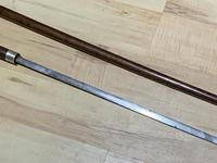 Gentleman's Walking Stick Sword Stick with Silver Collar Hallmarked Chester 1912 (14 of 25)
