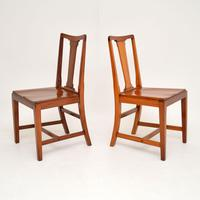 Pair of Art Deco Vintage Solid Mahogany Side Chairs (11 of 11)