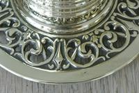 Fine William Tonks & Sons Aesthetic Movement Castle Top Brass Inkwell c.1895 (5 of 6)