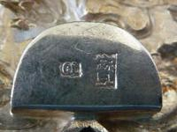 Fine Chinese Solid Silver Buckle #2 Dragons & Lingzhi Fungus (3 of 5)