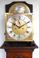 19th Century London Longcase Clock in Walnut Case Arched Silver & Brass Dial Signed John Ward London (2 of 5)