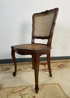 Vintage French Louis Style Set Of 6 Cherry Wood Bergère Cane Dining Chairs (10 of 10)