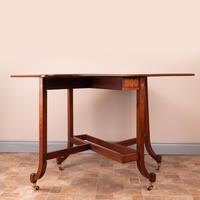 Inlaid Mahogany Edwardian Sutherland Table (19 of 19)