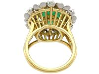 2.42ct Emerald & 0.95ct Diamond, 18ct Yellow Gold Dress Ring - Antique c.1920 (7 of 9)