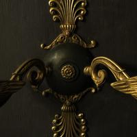 French Pair of Empire Antique Wall Lights (6 of 10)