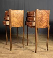 Pair of French Inlaid Tulipwood Bedside Tables (4 of 11)