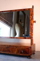 19th Century Mahogany Dressing Table Mirror with Three Drawers (9 of 21)