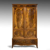 Handsome Late 19th Century Mahogany Two Door Press (2 of 5)