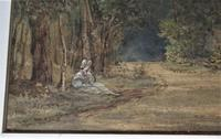 Mary Smirke - Girls on a Woodland Path, Watercolour, Framed (4 of 8)