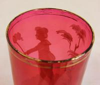 Victorian Mary Gregory Cranberry Glass Tot (4 of 4)