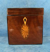 18th Century Harewood Inlaid Single Mahogany Tea Caddy (12 of 18)