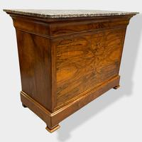 Figured Walnut & Marble Top Commode (16 of 16)