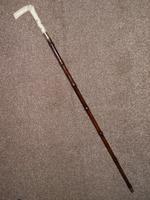 "Edwardian Hallmarked 1908 12 Carat Gold Bamboo Walking Cane by ""BRIGG OF LONDON"" (9 of 9)"