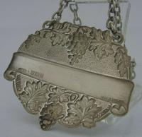 Quality English Solid Sterling Silver Whisky Decanter Label 1965 Barware (3 of 6)
