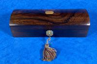 William IV Rosewood Glove Box with Brass Inlays (11 of 11)