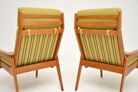 1960's Pair of Vintage Dutch Teak & Oak Armchairs (5 of 11)