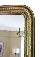 Gilt 19th Century overmantle wall mirror large (6 of 6)
