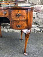 Antique Burr Walnut Kidney Shaped Dressing Table (3 of 12)
