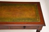 Antique Victorian Mahogany Leather Top Writing Table / Desk (4 of 9)