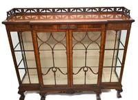Antique Chippendale China Cabinet Mahogany Antique c.1910 (7 of 15)