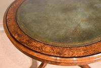Regency  Library  Table / Centre Table Burr Yew (2 of 7)
