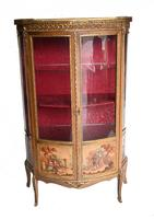 French Display Cabinet Vernis Martin Painted Bijouterie c.1900