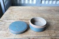 Swedish 'Folk Art' original blue painted wooden storage box / jar 19th Century (7 of 15)