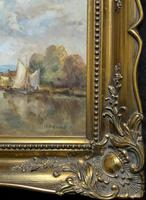 A Beautiful Original Signed Continental Impressionist Riverscape Oil Painting (11 of 12)