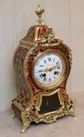 French Tortoiseshell & Brass inlay Mantel Clock (7 of 14)