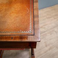 Victorian Leather Top Work Table (10 of 12)