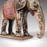 Antique Decorative Elephant and Rider, Indian, Hand Painted, Figure, Victorian (7 of 12)