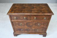 Walnut Oyster Veneer Chest of Drawers (5 of 12)
