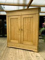 Big! Old 19th Century Pine Double Door Wardrobe - We Deliver & Assemble! (3 of 14)