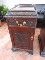 Rare Pair of Mahogany Adams Style Pot Cupboards 1820 (3 of 10)