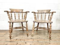 Pair of Antique Smoker's Bow Chairs (2 of 10)