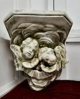 Sleeping Angels, Large Stoneware Weathered Wall Bracket (3 of 7)