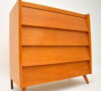 1950's Vintage Satin Birch Chest of Drawers (6 of 12)