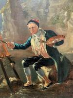 Late 18th Century 'British School' Original Oil Portrait Painting of a Shoreline Artist (9 of 12)